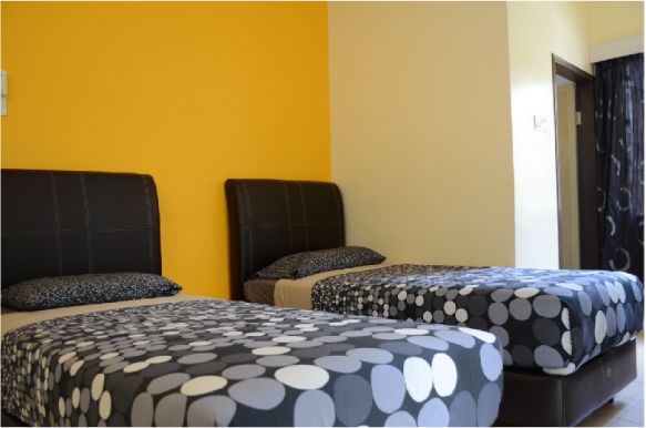 Economy Twin room with attached bathroom  (2 single beds)