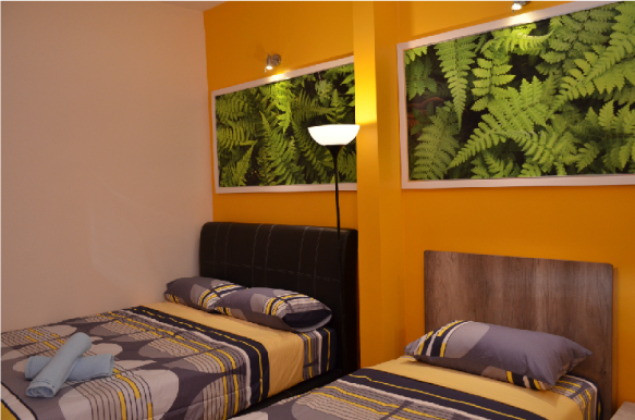 Superior triple room with attached bathroom  (1 queen size bed + 1 single bed)